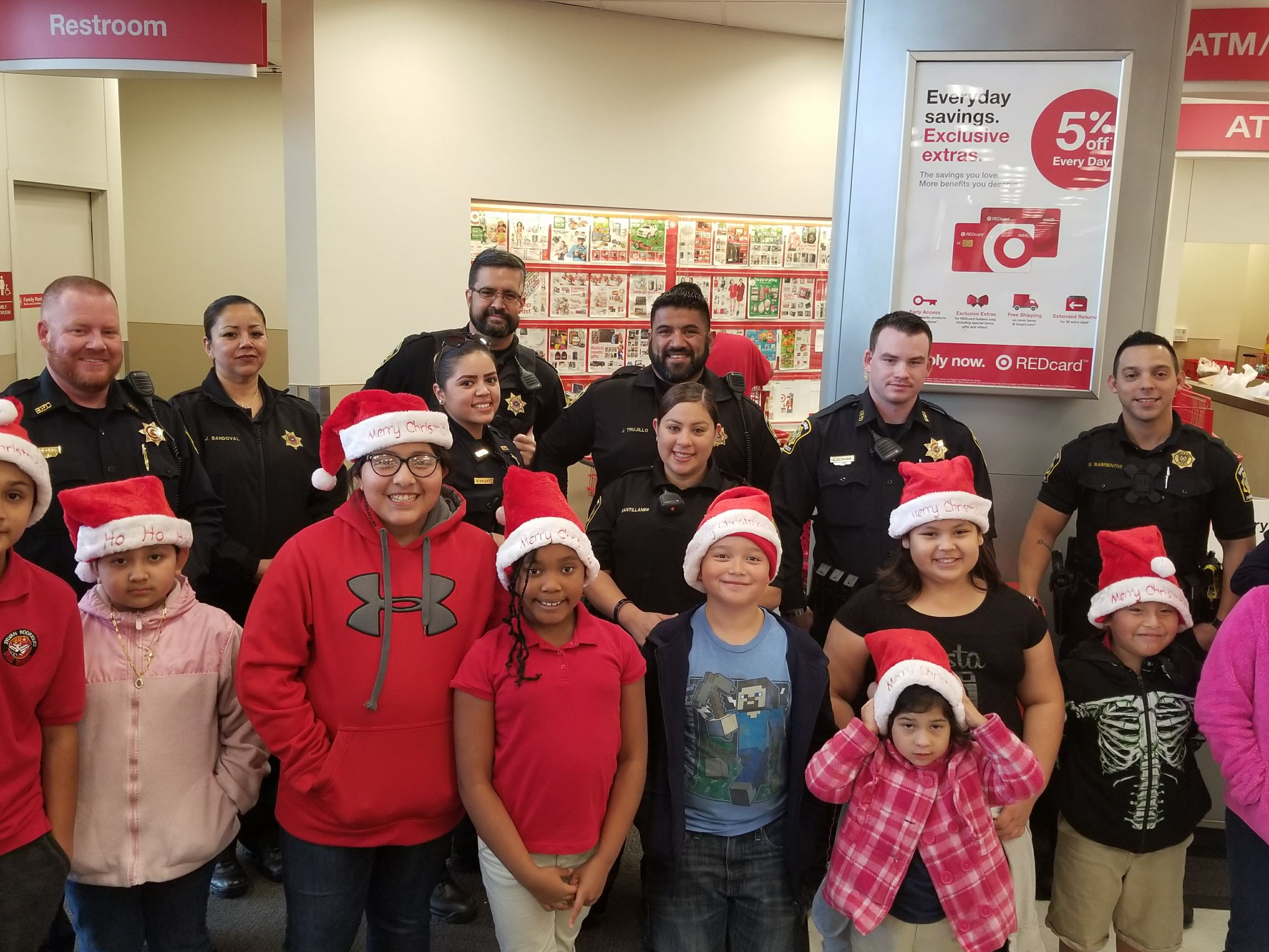 Group at the Shop with a Cop event
