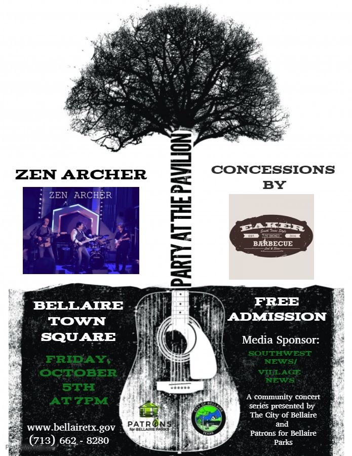 Party at the Pavilion Zen Archer - Made with PosterMyWall
