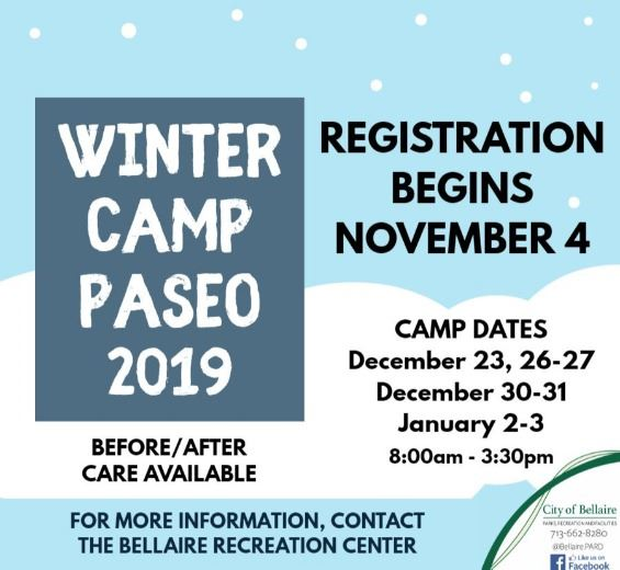 Winter Camp Paseo Flyer