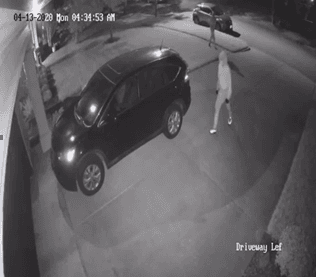 suspect entering car