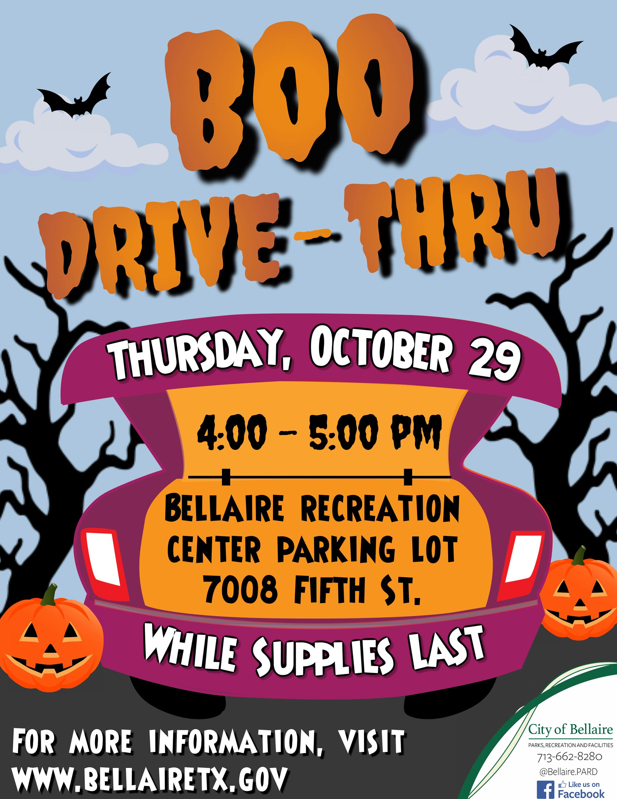 Boo Drive-Thru Flyer