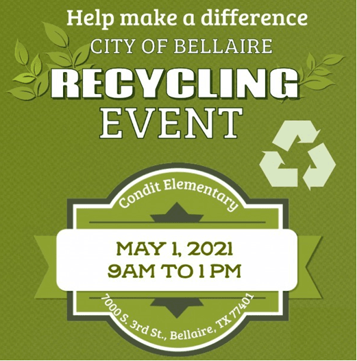 Recycling Event May 1 2021