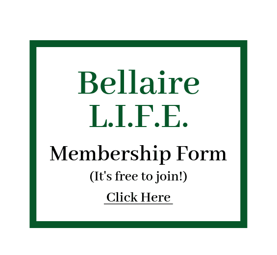 Bellaire L.I.F.E. membership form Opens in new window